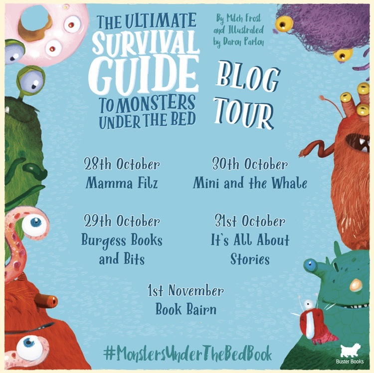 Blog tour monsters under the bed book on mammafilz.com