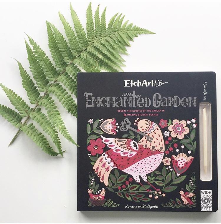 Etch art enchanted garden on mammafilz.com