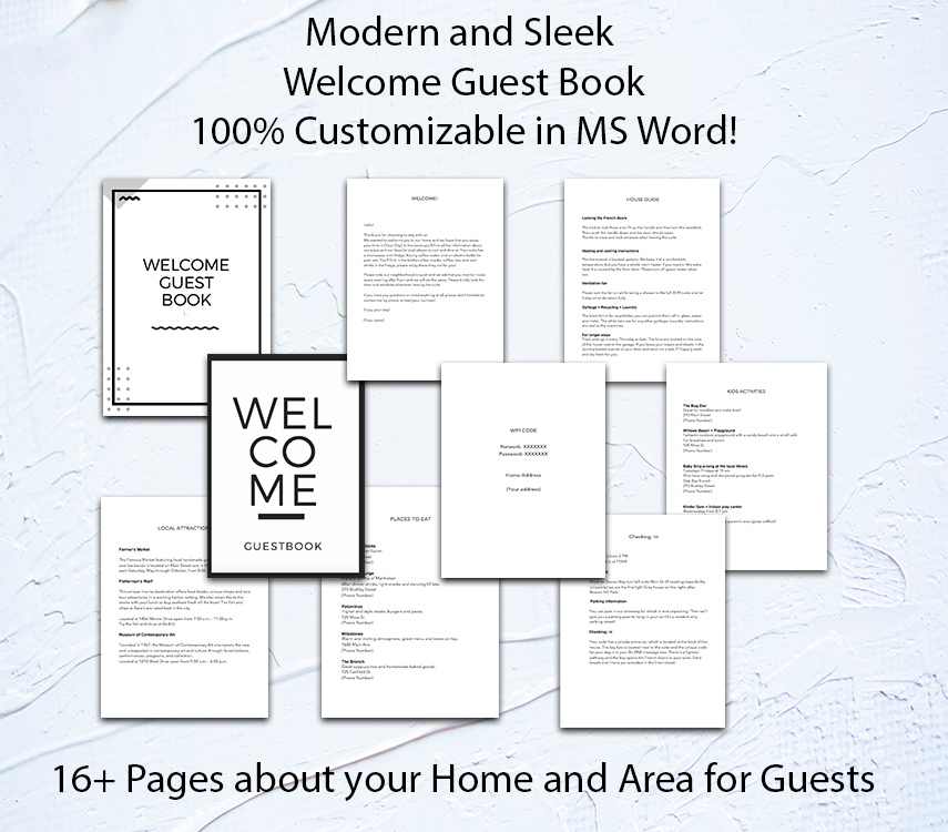 It is a picture of Printable Guest Book Pages regarding guest information