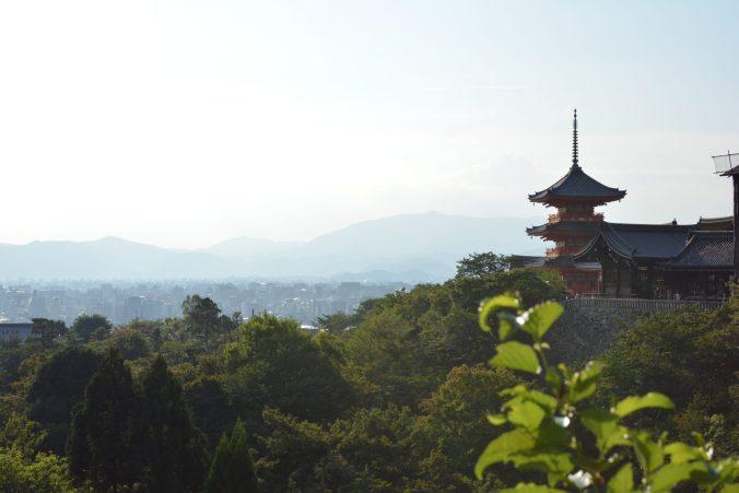 la vista di Kyoto da Kiyomizu-dera tra le cose da vedere in Giappone