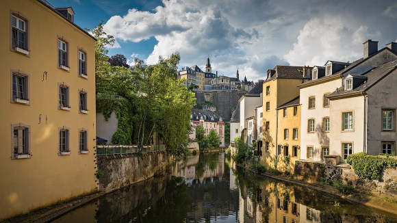 vista quartiere di Grund in Lussemburgo