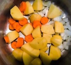 patate carote e cipolla