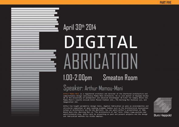 Digital Fabrication Five poster_Draft