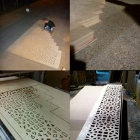 """Fabricating and assembling the CNC milled """"Mashrabyia"""" partition"""