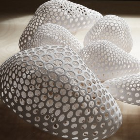 Overcast - Guan Lee, Mamou-Mani - 3D Printed Cloudlets Ceiling Installation