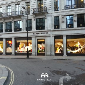 Picture of the Karen Millen Regent Street Store Windows on Princes Street © Mamou-Mani