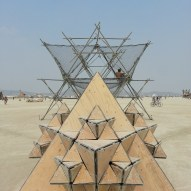Picture of Fractal Cult from one of the plywood pods