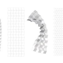 Miura-Ori Origami variation in sizes - Karen Millen Xmas Window Display ©Mamou-Mani