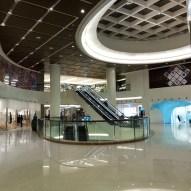 Davidson Tsui RIBA Window Display 2014 - View from Mall Entrance