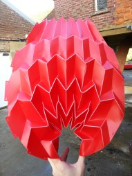 The modified Miura-Ori origami pattern with different pressure applied ©Mamou-Mani