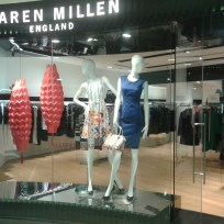 LaserCut Origami Chinese Lanterns in the Karen Millen Singapore ©Mamou-Mani