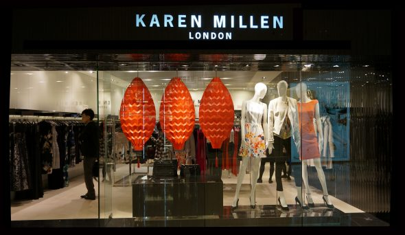 Chinese New Year Origami Lanterns for Karen Millen - Hong Kong Shop ©Mamou-Mani