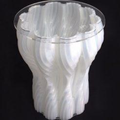 The Smoke Stool – 3D Printed using Silkworm GCode 3D Printing Plugin for Grasshopper ©Mamou-Mani
