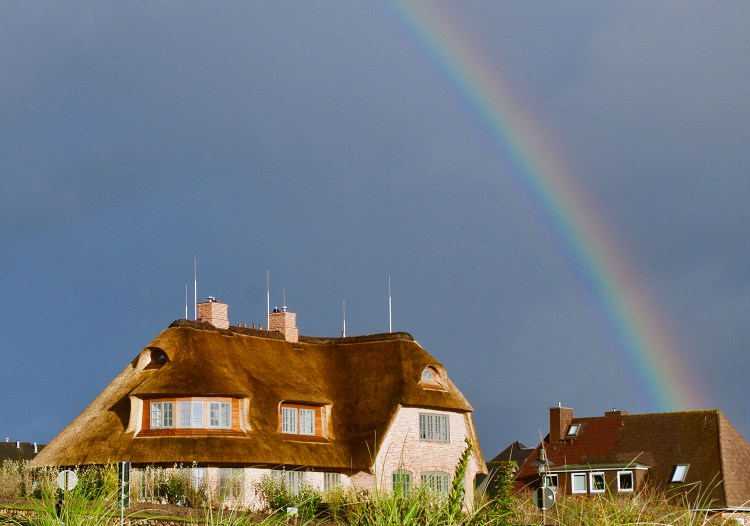 Rainy day traveling in Sylt