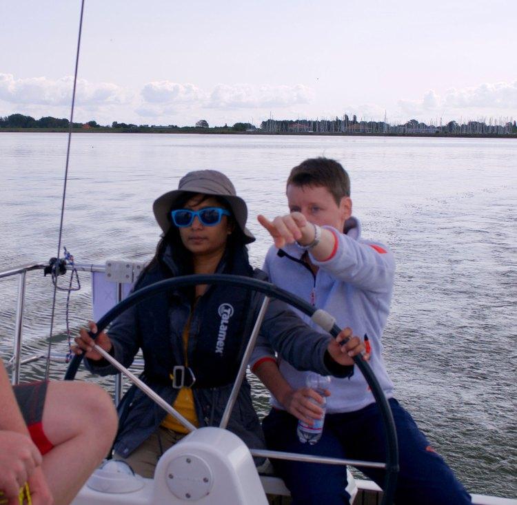 Sailing in Andijk, the Netherlands