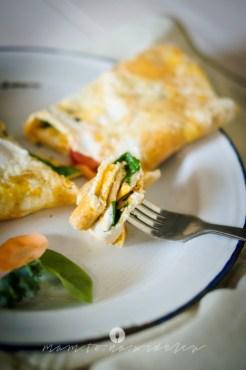 mam to na widelcu omlet ze szpinakiem 9759