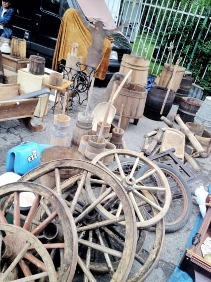 jarmark staroci w Bytomiu beczki