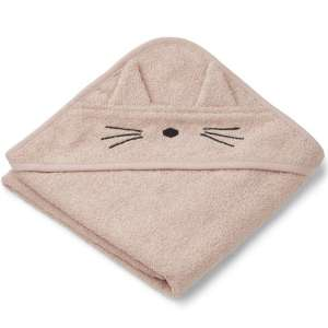 Cape de bain Albert Chat rose – Liewood