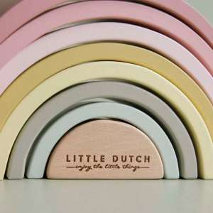 Arc en ciel en bois Rose – Little Dutch