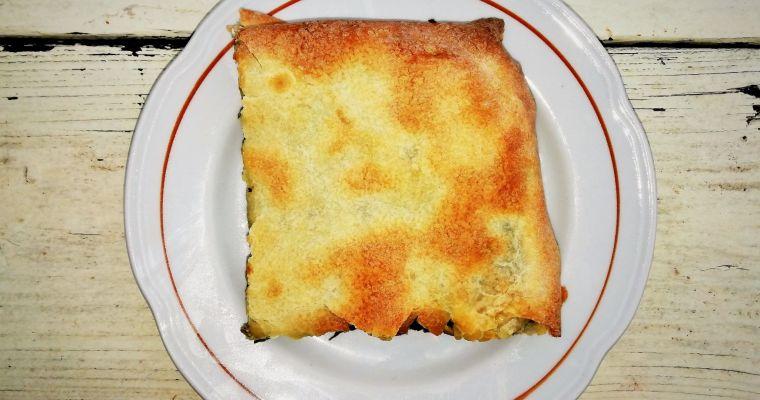 "Ania's ""Hortopita"" wild greens pie"