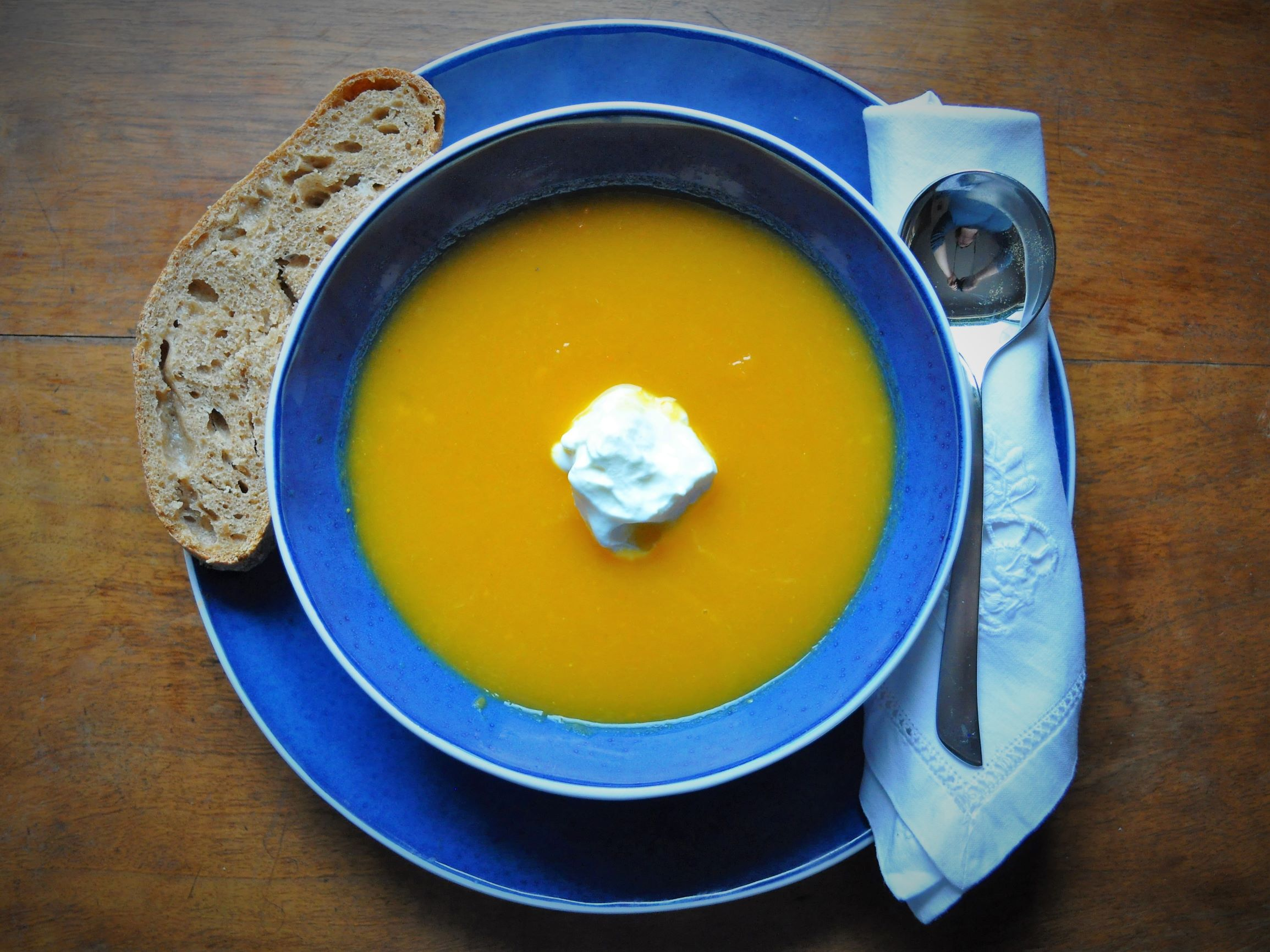 Pumpkin soup with Ginger
