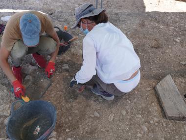L'equip d'arqueòlegs.