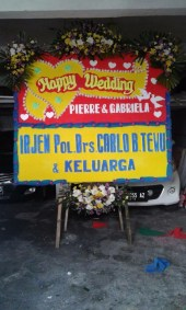 Bunga Papan Wedding Manado