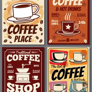 cafe-and-restaurant-retro-posters-templates-vector-14433279 Dịch vụ thiết kế theo yêu cầu    Manage.vn