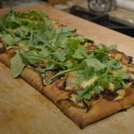 Peach and Fig Asiago Flatbreads