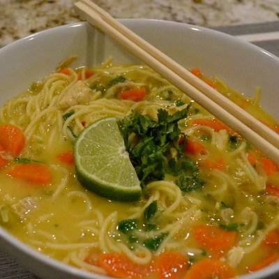 Easy Thai Chicken Noodle Bowls