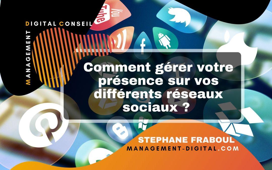 Comment gérer votre présence sur vos différents réseaux sociaux ?