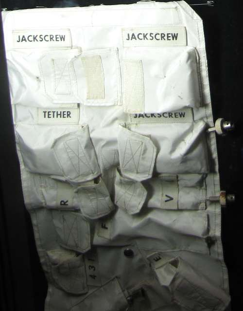 photo of container labeled with many compartments for NASA