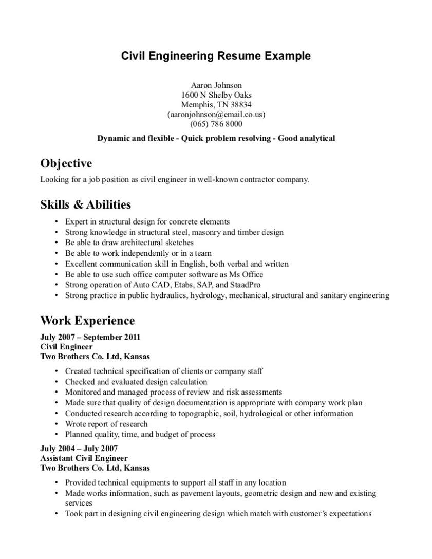 job resume template pdf