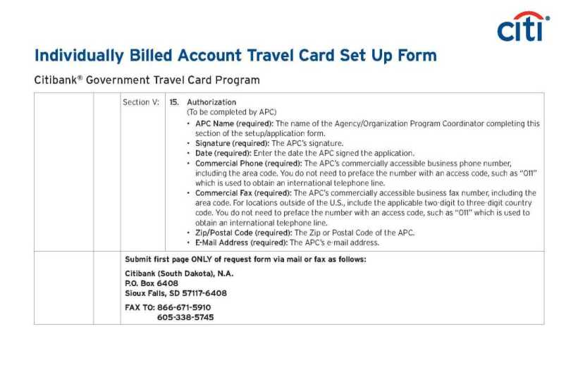 Citibank Government Travel Card Online Access