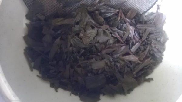 星野製茶園20130823 八女・星の紅茶2013 -茶殻