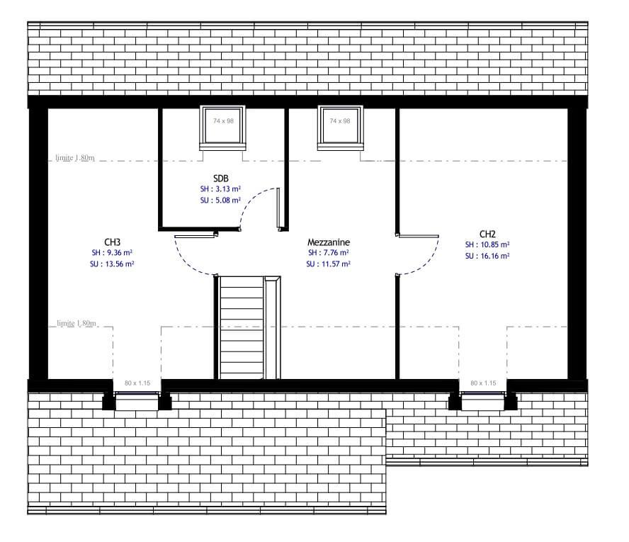 Plan Maison Individuelle 3 Chambres 20 Habitat Concept