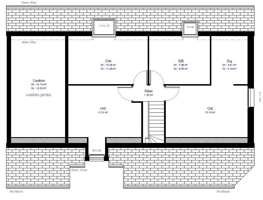 Plan Maison Individuelle 4 Chambres 66 Habitat Concept