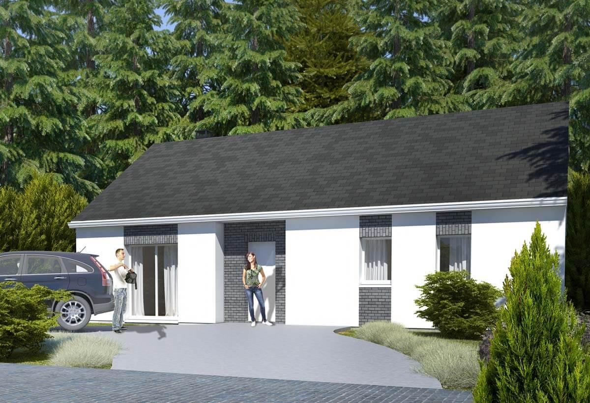 Plan Maison Individuelle 3 Chambres 77 Habitat Concept