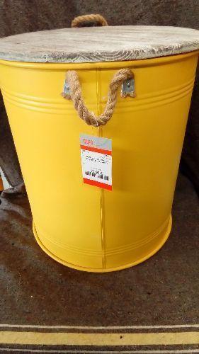 tonneau jaune anses avec couvercle gm