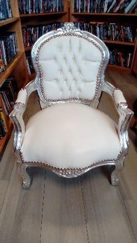 fauteuil baroque blanc pour enfant