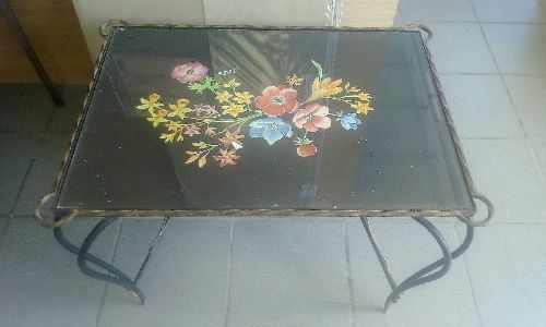 table basse fer forge occasion troc