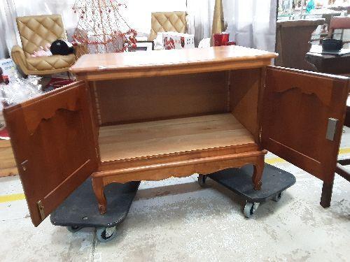 meuble bas 2p style louis xv merisier