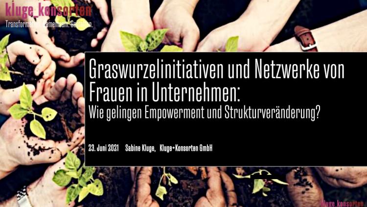 Frauennetzwerke in Unternehmen: Vortrag von Sabine Kluge