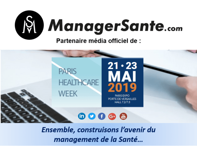 Bannière marketing PARIS HEALTHCARE WEEK 2019