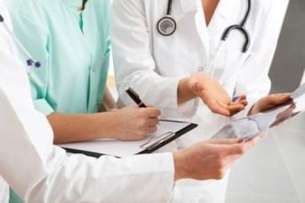 Doctors team having medical council in hospital