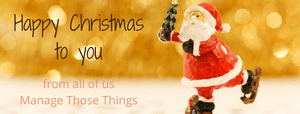 happy christmas from manage those things
