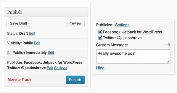 Jetpack Publicize