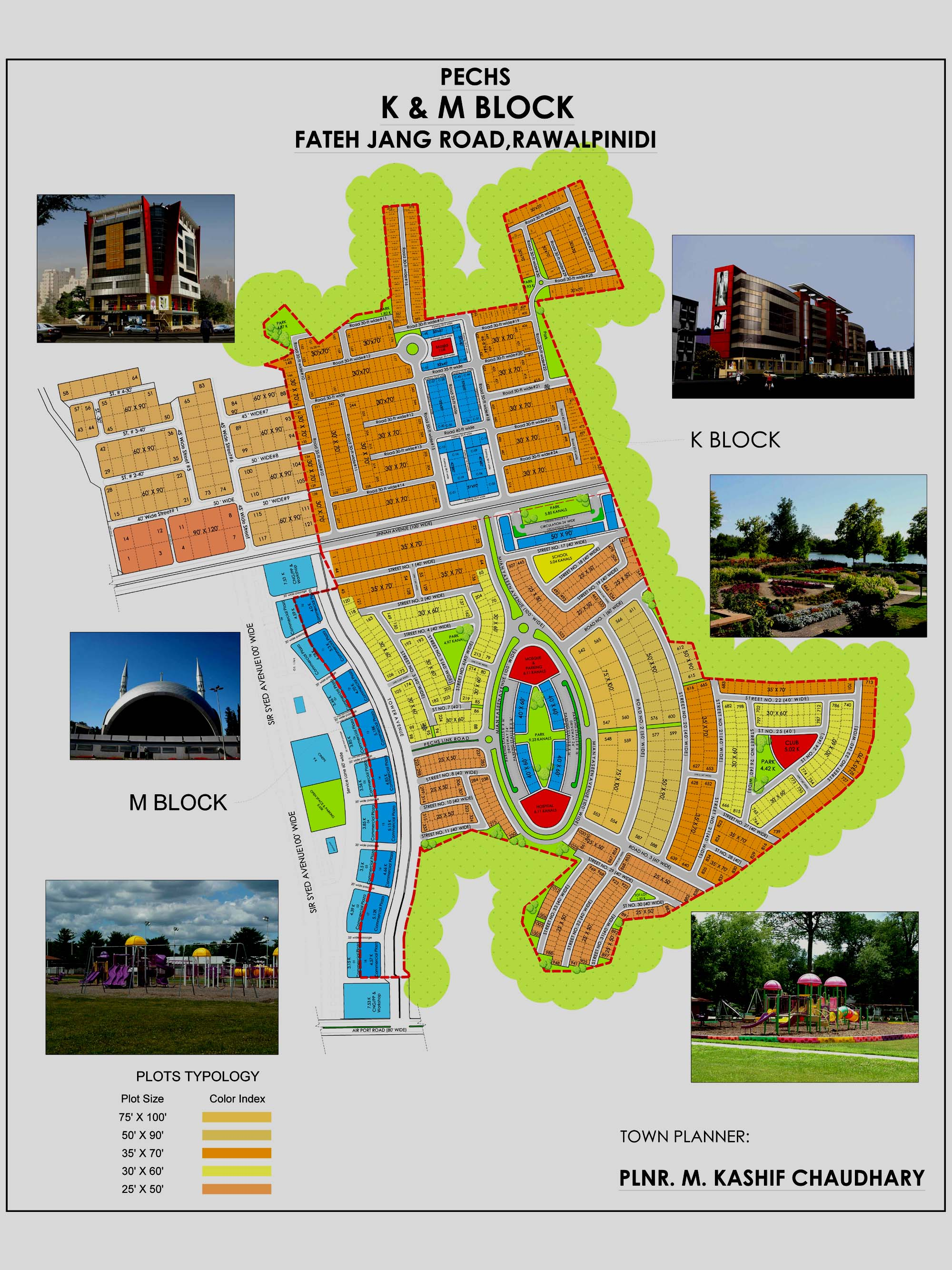 PECHS Islamabad Maps - Manahil Estate on