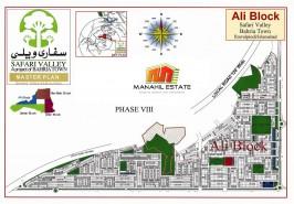 Bahria Town Ali Block Map