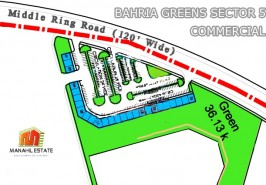 Bahria Greens Sector 5 Commercials Map